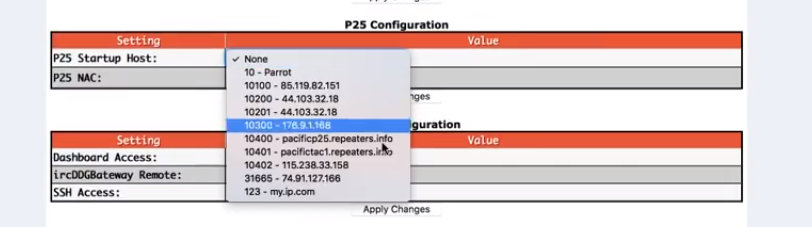 P25 Host files